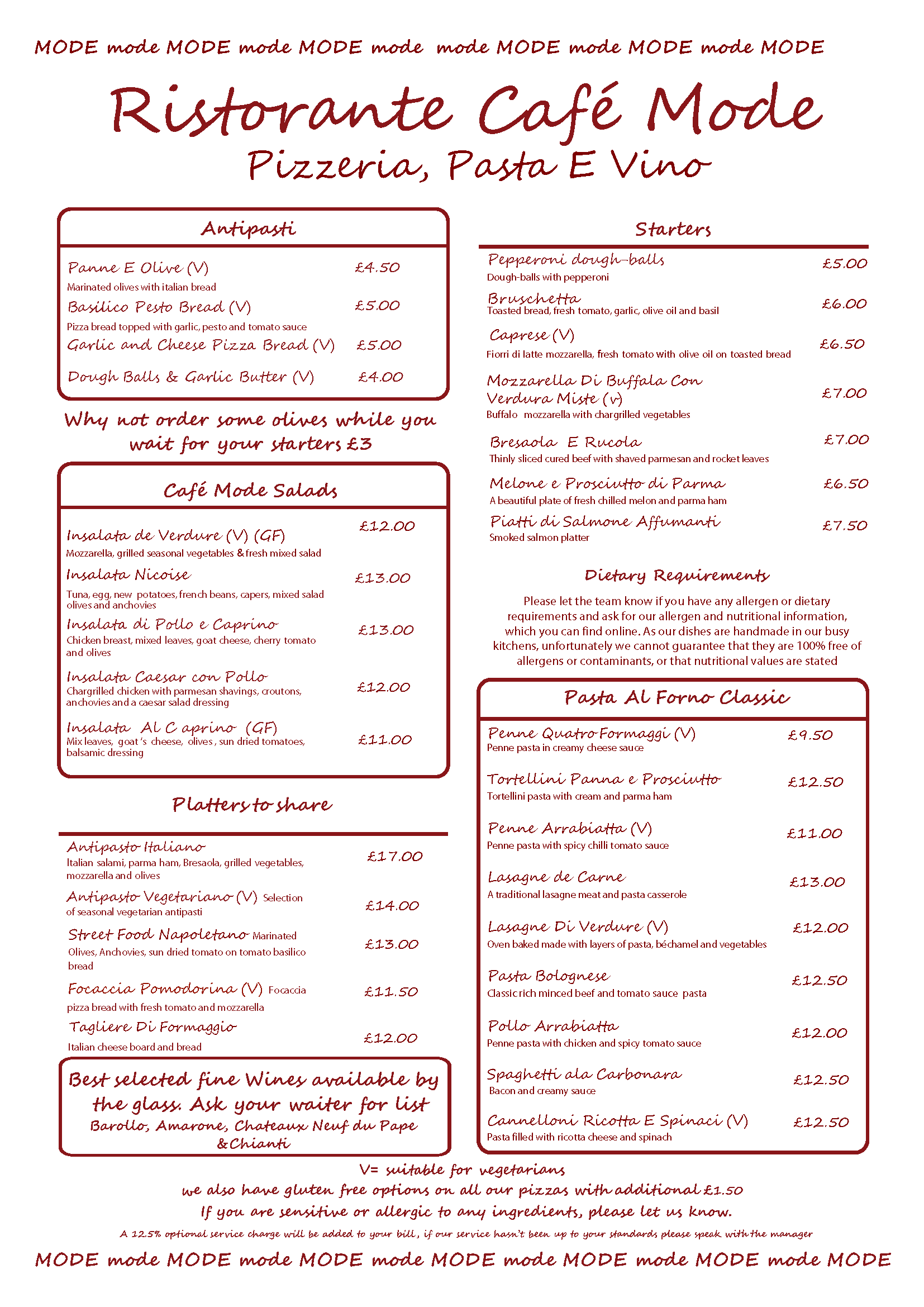 Download Cafe-Mode-Italian-Restaurant-Covent-Garden-Menu